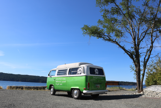 1972 green dormobile westfalia vancouver island nanaimo for rent hire camper campervan van rentals