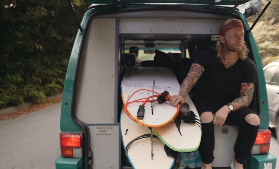 surfing in tofino camping camper van rental rentals vancouver island surf video
