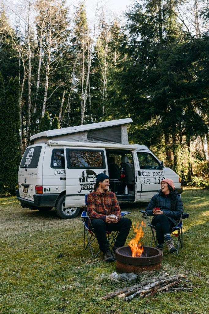 fall winter camping vancouver island best camper van rental hire RV canada company