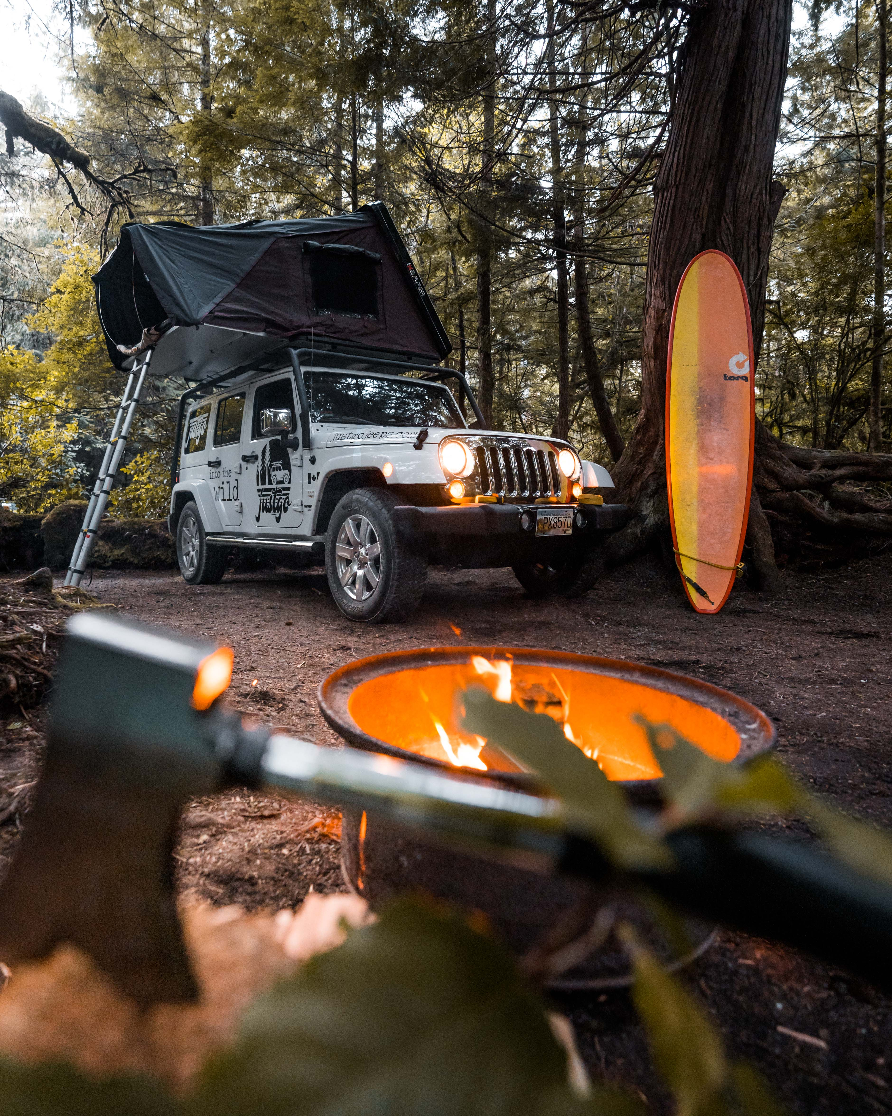 jeep rental vancouver island canada roof top tent nanaimo victoria