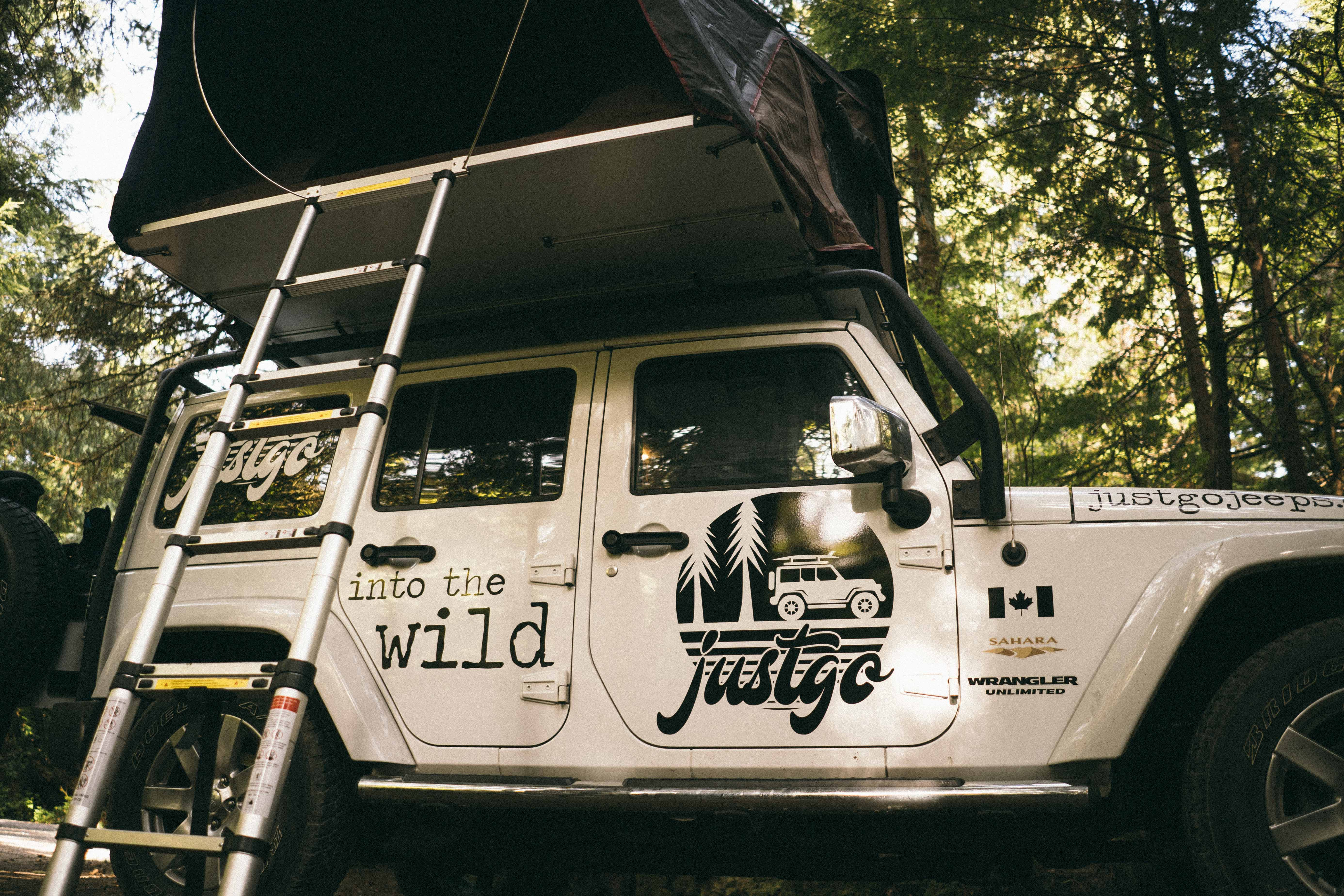 jeep rental canada camping vancouver island british columbia